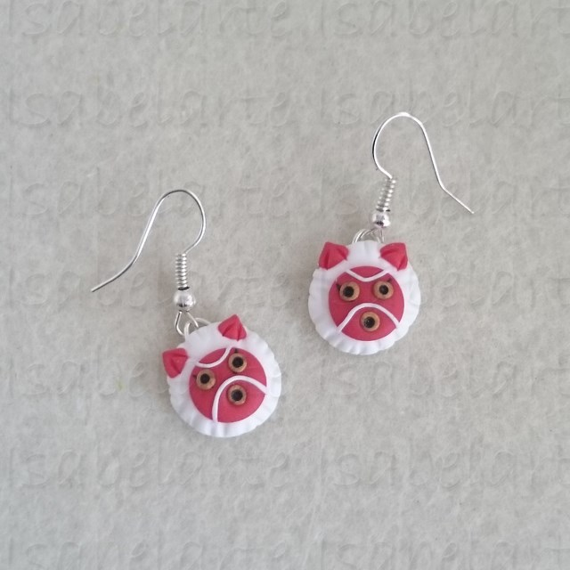 Earrings inspired mask Mononoke